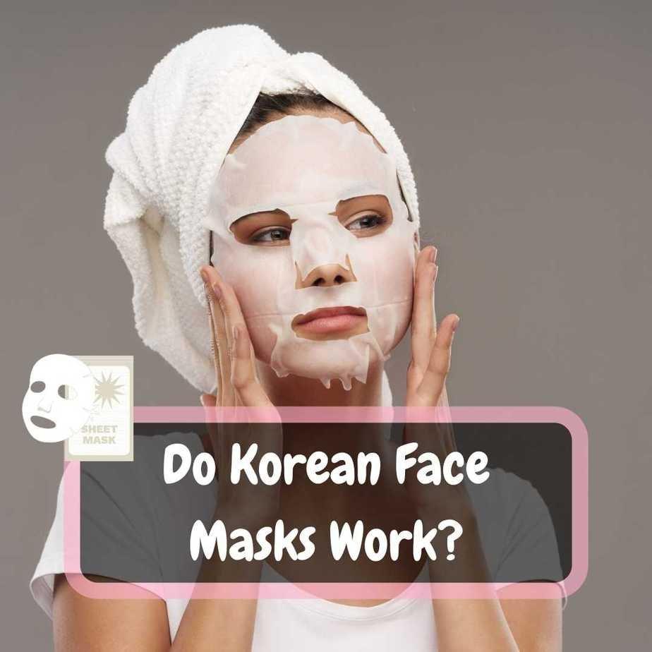 do korean face masks work